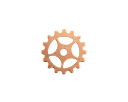 Copper Small Sectioned Gear 16mm