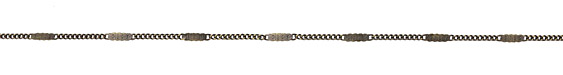 Zola Elements Antique Brass (plated) Pressed Curb Chain
