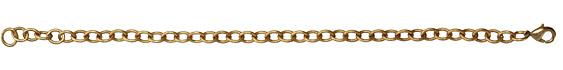 "Vintaj Vogue Finished Round Cable Bracelet 8"""