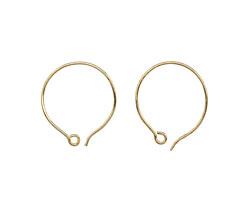 Saki Bronze Round Loop Earwire 21x23mm
