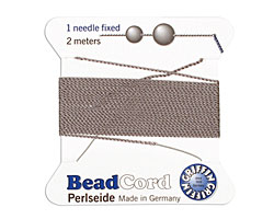 Grey Griffin Nylon Beading Cord Size 6, 2 meters