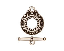TierraCast Antique Silver (plated) Bali Toggle Clasp 20x16mm, 20mm Bar