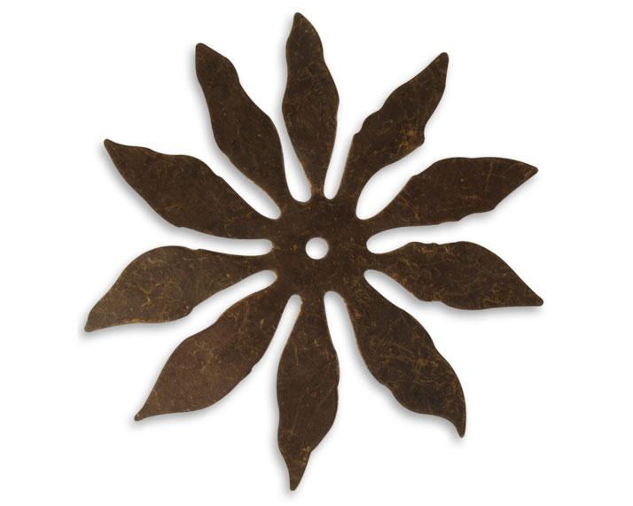 Vintaj Natural Brass 10 Petal Cutout Flower 56mm