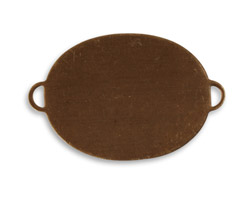 Vintaj Natural Brass Oval Altered Blank Link 36.5x25mm