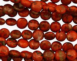 Red Jasper Puff Coin 8mm