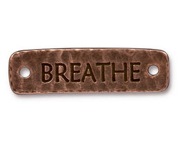 TierraCast Antique Copper (plated) Breathe Link 40.5x11.5mm