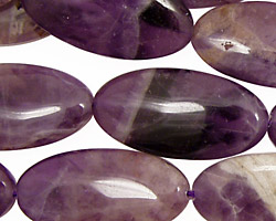 Dogtooth Amethyst Flat Oval 30x15mm