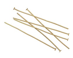"Matte Gold (plated) Headpin 2"", 20 gauge"