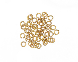 Satin Hamilton Gold (Plated) Round Jump Ring 3mm, 22 Gauge