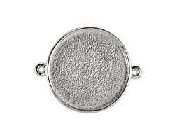 Nunn Design Sterling Silver (plated) Grande Circle Bezel Link 42x34mm