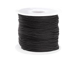 Black Chinese Knotting Cord 0.8mm, 120 yard spool