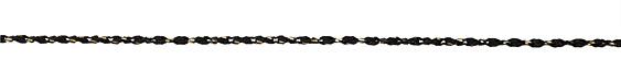 Black & Brass Rope Chain
