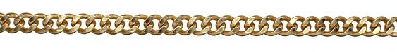 Satin Hamilton Gold (plated) Large Curb Chain