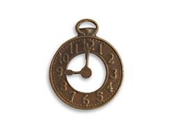 Vintaj Natural Brass Clock 20x25mm