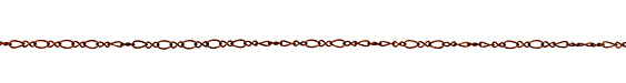 Antique Copper (plated) Single Twisted Oval & Figure 8 Chain