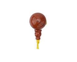 Red Jasper Round Guru Bead 16mm