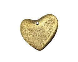 Vintaj Antique Brass (plated) Asymmetrical Heart Blank 31x30mm