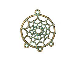 Zola Elements Patina Green Brass Dreamcatcher 1-3 Focal Link 28x34mm