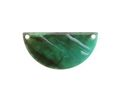 Zola Elements Turquoise Bullhorn Acetate Half Circle Link 30x15mm