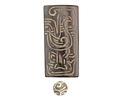 Soochow Jade Carved Bird Rectangle Focal 61x28mm & Round 14mm