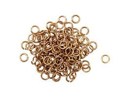 Artistic Wire Non-Tarnish Brass Chain Maille Jump Ring 3.18mm, 20 gauge