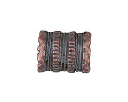 Greek Bronze (plated) Roped Oblong Barrel (large hole) 20x16mm
