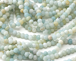 Black Gold Amazonite Faceted Rondelle 3mm