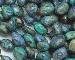 China Chrysocolla (A) Tumbled Nugget 13-17x11-15mm