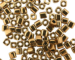 TOHO Bronze Cube 4mm Seed Bead