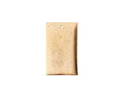 Nunn Design Antique Gold (plated) Flat Large Rectangle Tag 18x30mm