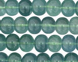 Blue Green Fluorite Rondelle 8x10mm