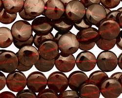 Garnet Puff Coin 8mm