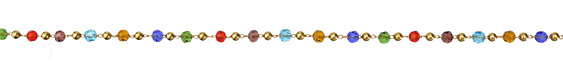 Zola Elements Jewel Tone Crystal & Brass Rounds Brass Bead Chain