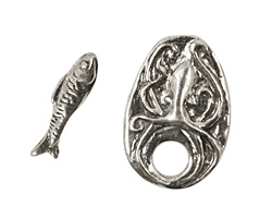 Green Girl Pewter Octopus Toggle 26x18mm, 20mm bar