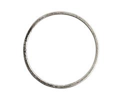 Nunn Design Antique Silver (plated) Grande Flat Circle 50mm