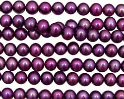 Plum Semi-Round 4.5-5mm