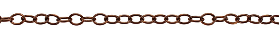 Vintaj Natural Brass Rounded Oval Chain