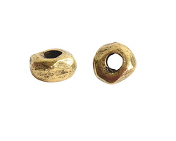 Nunn Design Antique Gold (plated) Small Organic Rondelle (large hole) 3x5mm