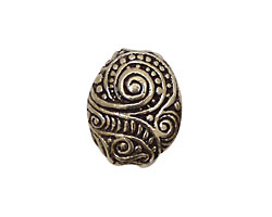 Green Girl Pewter Swirly Pebble 20x17mm