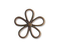 Vintaj Natural Brass Beaded Flower 24mm