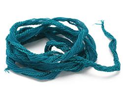"""Teal Fairy Silk Ribbon 1/2"""""""