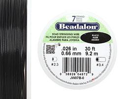 "Beadalon Black .026"" 7 Strand Wire 30ft."