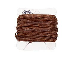 Walnut Brown Irish Waxed Linen 7 ply