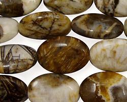 Brioche Agate Flat Oval 18x13mm
