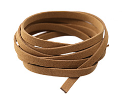 Camel Microsuede Flat Cord 7mm