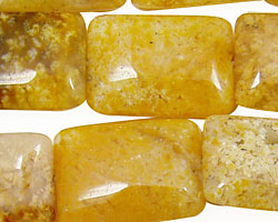 Natural Yellow Agate Thin Pillow 25x18mm