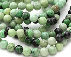 Grass Green Turquoise Round 8mm
