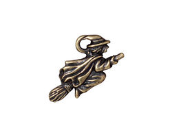 TierraCast Antique Brass (plated) Witch Charm 23x14mm