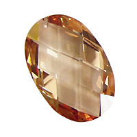Champagne Faceted Oval 20x30mm