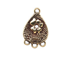 Saki Bronze Flower Teardrop Chandelier 16x26mm